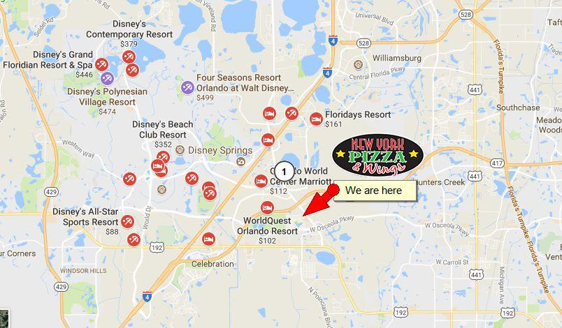 Pizza Delivery Orlando to Disney Resorts and Hotels